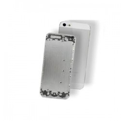 BACK COVER IPHONE 5 SILVER AAA